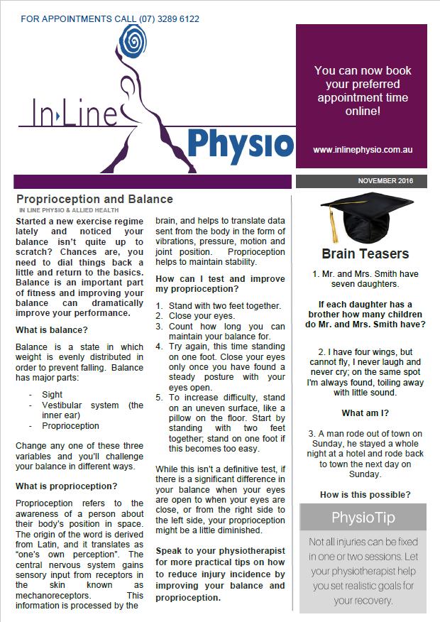 November 2016 newsletter