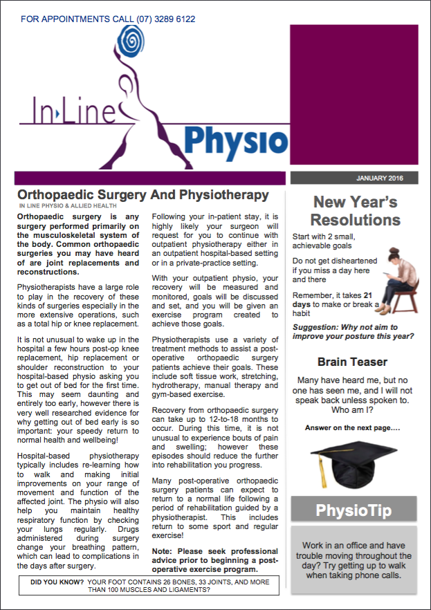 January 2016 newsletter